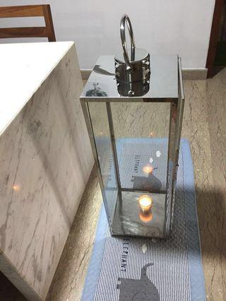 Lantern stainless steel Candle Glass Holder