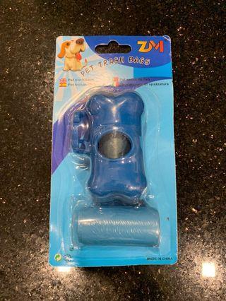 🚚 New! Pet Trash Bags with Dog Bone Holder (Blue)