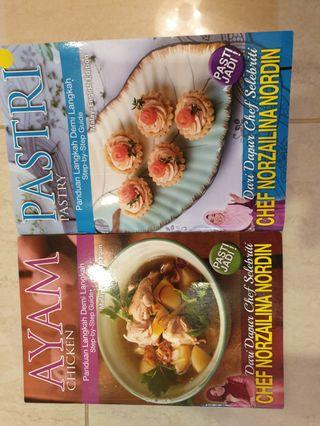 2 Cookbooks by Chef Norzailina Nordin CHICKEN & PASTRY RECIPES