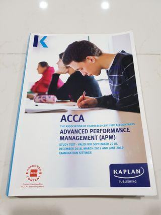 ACCA P5 APM Study Text - Valid till June 2019 (Kaplan)