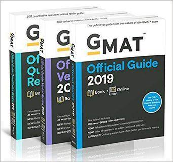 *FREE DELIVERY* GMAT Official Guide 2019 Bundle: 3 Books + Online