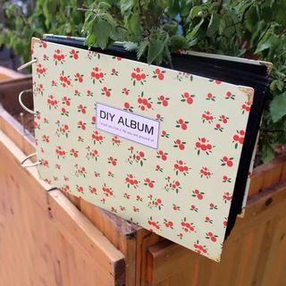 DIY 10寸 手工相簿 送粉彩筆相角貼貼紙
