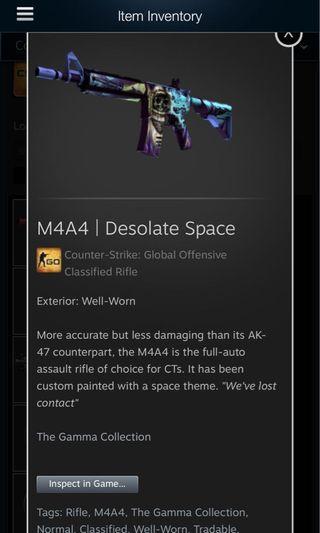 WTS CSGO M4a4 Desolate Space ww