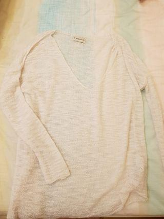Pull and Bear White Knitwear