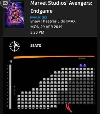 Avenger Endgame tickets IMAX 3D tickets