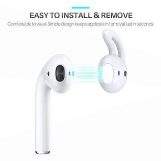 3820. AirPods and EarPods Hooks and Covers Accessories by MRPLUM for Apple Earphone Earbuds (White-4 Pairs)