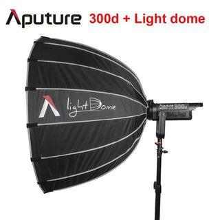 Aputure Light Storm (LS) C300d + Aputure Light Dome + Manfrotto 1004BAC Photo Master Stand