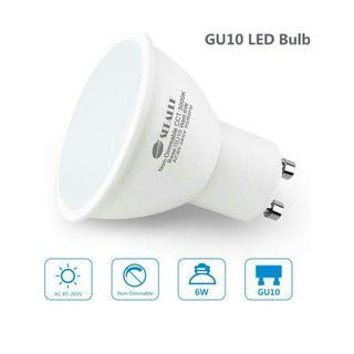 -1210-GU10 LED Light Bulbs, Seealle 6W GU10 LED Bulbs, 50W GU10 Halogen Light Equivalent, 3000K Warm White,500 Lumen, Non-Dimmable,120°Beam Angle,Recessed Light, Track Light(Pack of 6) [Energy Class A+]