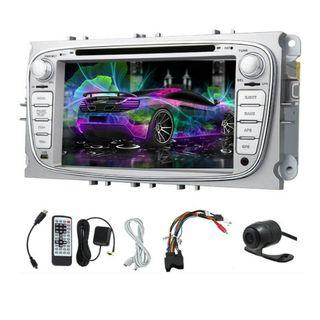 -1213-Android 5.1 GPS Capacitive Multimedia Car DVD Player Stereo System For Ford Focus Mondeo Galaxy Audio Car Radio FM AM Video Receiver CD Autoradio MP4 Remote control Sub AMP Rearview Camera