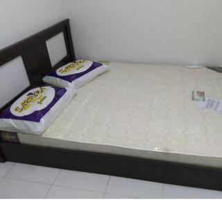 Queen Size Mattress and Bed Frame