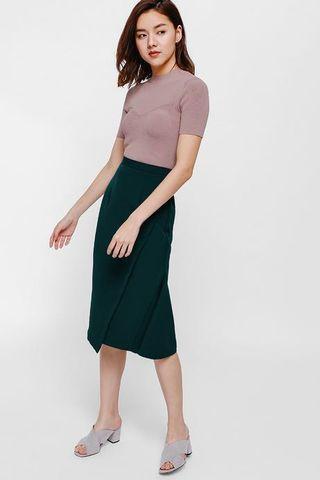 🚚 Addie Asymmetrical Foldover Skirt