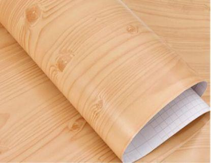 5metres Cherry Brown Wood PVC Stickers