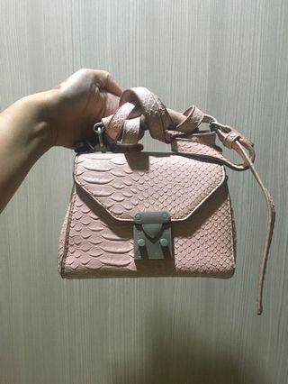 Pink Croco Alexis Bag