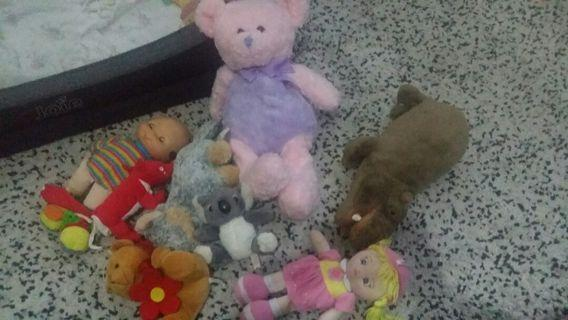 Combo preloved soft toys