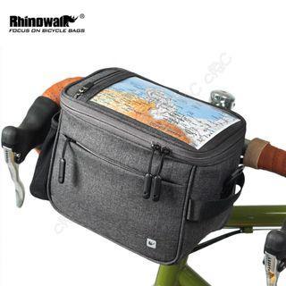 Rhinowalk-全新防水觸控龍頭包:復古自行車手袋 側背相機包 小折疊車頭包 腳踏車把包 單車把手袋 小摺疊車前包