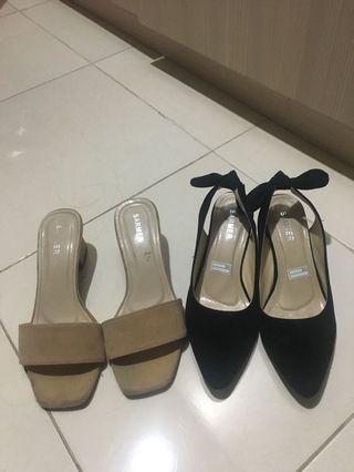 Bundling sepatu dan sendal tinggi