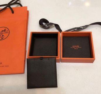 專櫃正品 真品 Hermes 愛馬仕 項鍊 內裡皮革 硬盒 pop 木盒