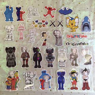 The Kaws Tumblr Stickers • Sesame Street Elmo Cookie Monster Shark Pinocchio Astro Boy