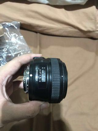 Lensa Nikon Bokeh F1.8N + UV KENKO 58