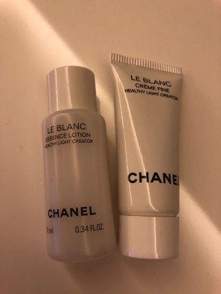 Chanel LE BLANC  珍珠光采精華乳液 & 珍珠光采雙效乳霜 (輕柔)