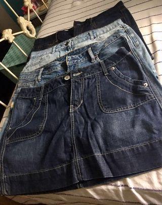 Mini Denim Skirts