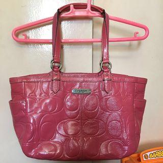 Coach embossed patent leather bag