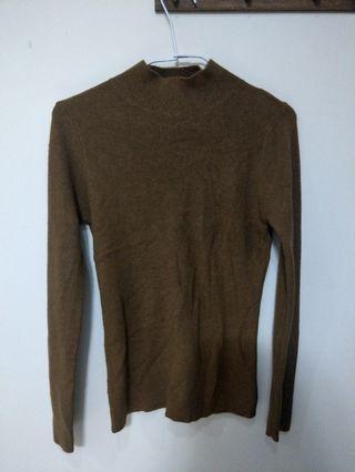 深棕色 棕色 咖啡色 上衣 長袖 暖