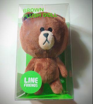 Line Friends Brown Plush Doll 熊大 公仔
