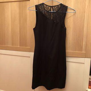 MANGO Black Lace Dress