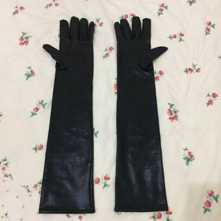 Women Black Thin Long Glove