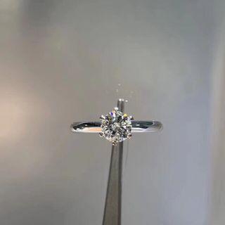 客人舊戒改款 60分18k白金鑽戒💍 代鑲改鑲戒指 珠寶 首飾