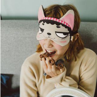 遮光眼罩 狗狗系列 鬥牛犬(女) 旅行護眼 睡眠午休 遮光透氣 睡覺眼罩