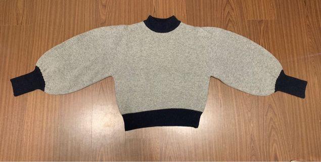 🚚 韓版毛衣 設計款蓬蓬袖 短板 學苑風