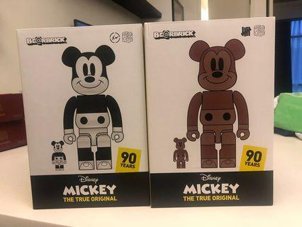 Bearbrick be@rbrick medi com Mickey Mouse fragment undefeated bnib sealed