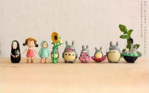 Studio Ghibli Themed Terrarium Figurines (Totoro, Mei, No-Face etc)
