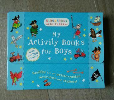 My Activity books for boys book set