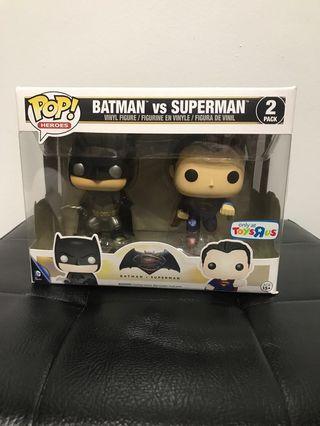 🚚 Funko Pop Batman Vs Superman metallic exclusive