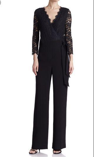 DvF Black lace jumpsuit