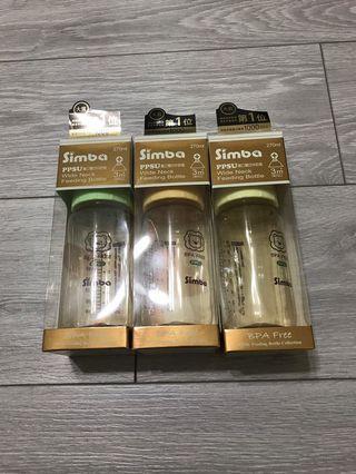 🚚 全新現貨小獅王辛巴  PPSU寬口雙凹中奶瓶 270ML~ 奶嘴升級