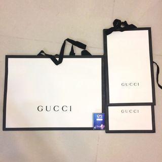 Gucci 紙袋3個