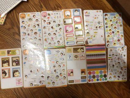 韓國 日記 防水 手機 貼紙 35蚊25張
