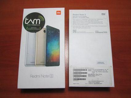[2ND] Xiaomi Redmi Note 3 Grey TAM 2/16 GB (Kenzo)