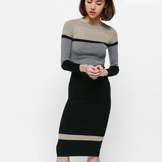 Love Bonito Tadia Colourblock Knit Midi Dress #EndgameYourExcess