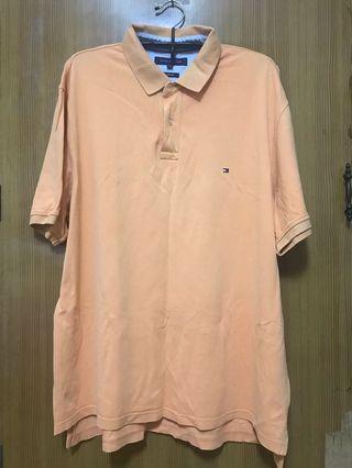 Tommy Hilfger  橘色POLO衫