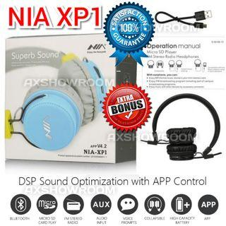 DSP Processing Bluetooth Headset NIA XP1  Authentic NIA Wireless Stereo Bluetooth Headphones