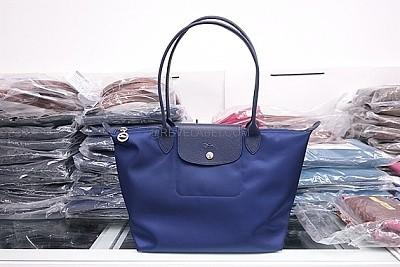 🚚 New Longchamp Le Pliage Neo Long Handle Small Navy Blue 2605 578 556