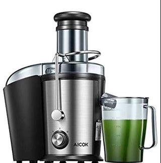 🚚 Juicer Machine Aicok Juice Extractor, 800W Centrifugal Juicer with 75MM Wide Mouth, Dual Speed Stainless Steel Juicer with Anti-drip Mouth, Non-Slip feet, BPA Free