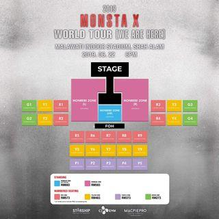 (Help purchase ticket service) MONSTA X WORLD TOUR WE ARE HERE IN MALAYSIA