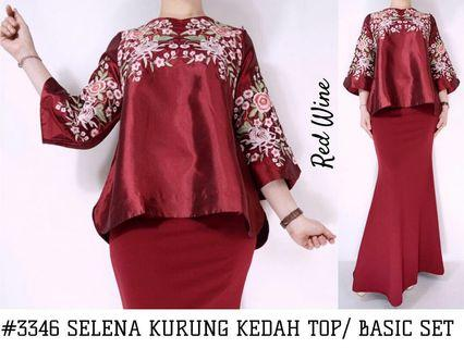 SELENA KURUNG KEDAH TOP/BASIC MERMAID SKIRT