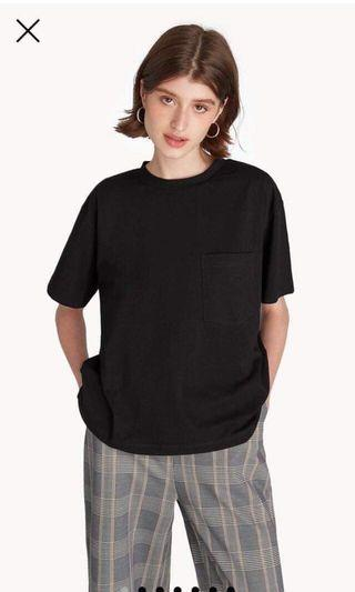(Brand New With Tag) Pomelo Black T Shirt Oversized Tee